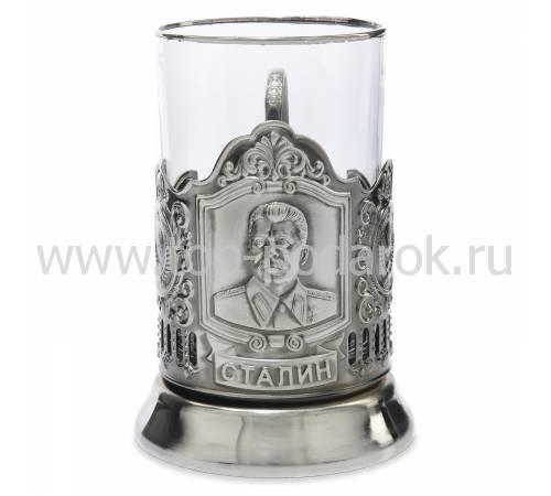 """Подстаканник никелированный """"Сталин"""" со стаканом RV0036752CG"""
