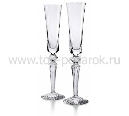 """Набор из 2-х прозрачных бокалов для шампанского """"Mille Nuits"""" Baccarat 2810597"""