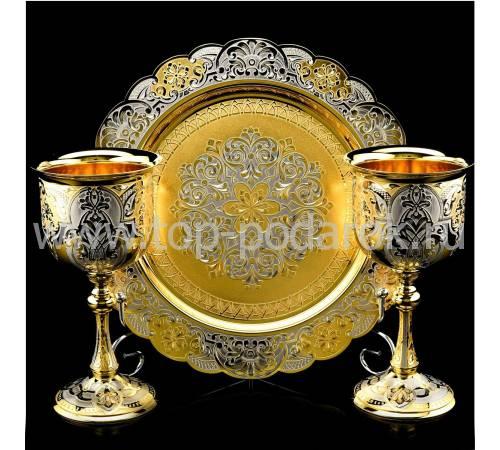 Набор для шампанского (на 2 персоны) Златоуст RV0030015CG