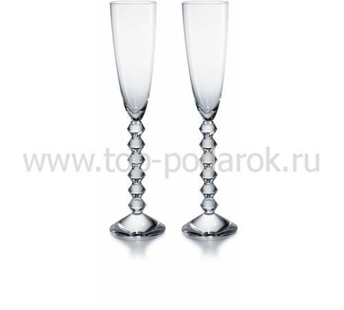 """Набор из 2-х прозрачных бокалов для шампанского """"VEGA"""" Baccarat 2811802"""