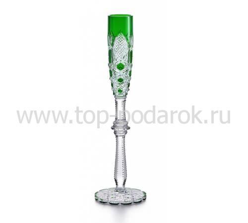 """Бокал для шампанского зелёный №4 """"Tsar"""" Baccarat 1499186"""