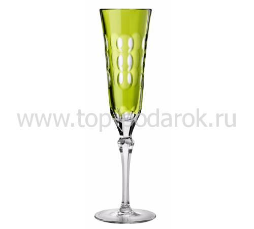 """Фужер для шампанского """"Kawali"""" (h=22,5) зеленый Christofle 07913710"""